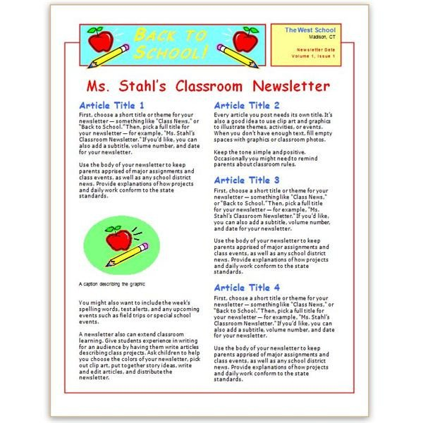 Elementary School Newsletter Template where to Find Free Church Newsletters Templates for
