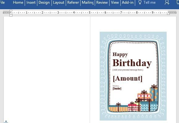Email Gift Certificate Template Birthday Gift Certificate Card Template for Word