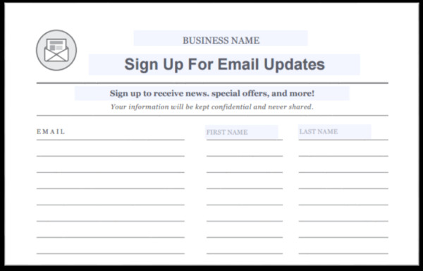 Email Signup Sheet Template 15 Creative Ways to Grow Your Email List