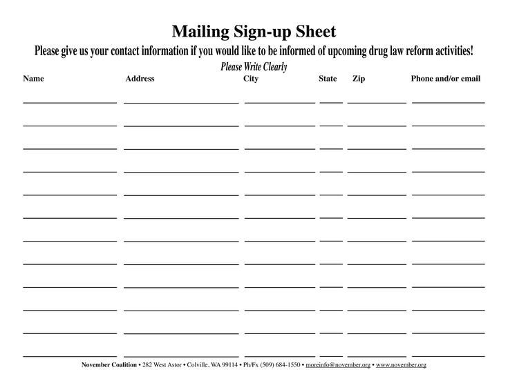 Email Signup Sheet Template 38 Best Sign Up Images On Pinterest