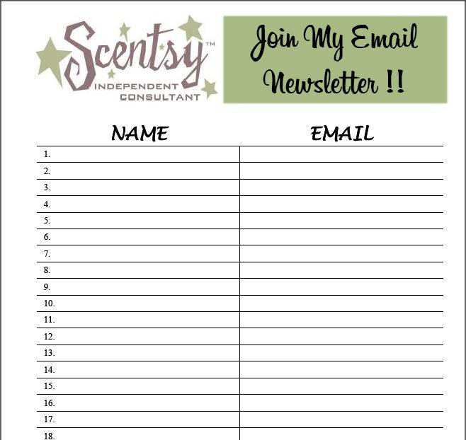 Email Signup Sheet Template 9 Best S Of Email Sign Up List Template Email List