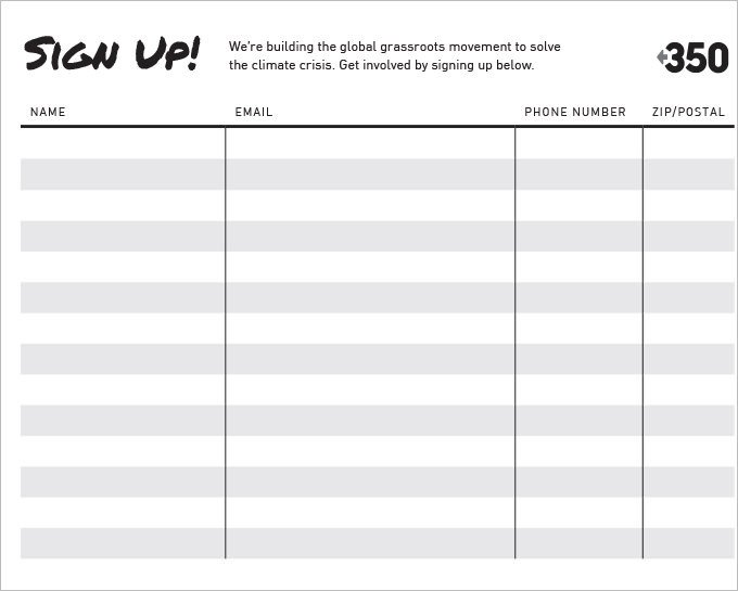 Email Signup Sheet Template Sign Up Sheets 58 Free Word Excel Pdf Documents