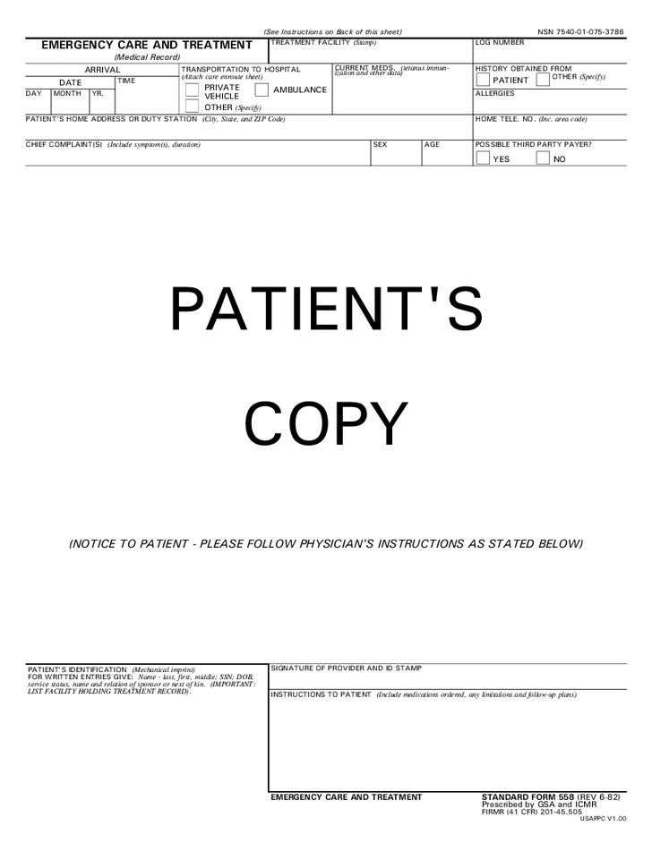 Emergency Room Discharge Papers Template 29 Of Urgent Care Documentation Template