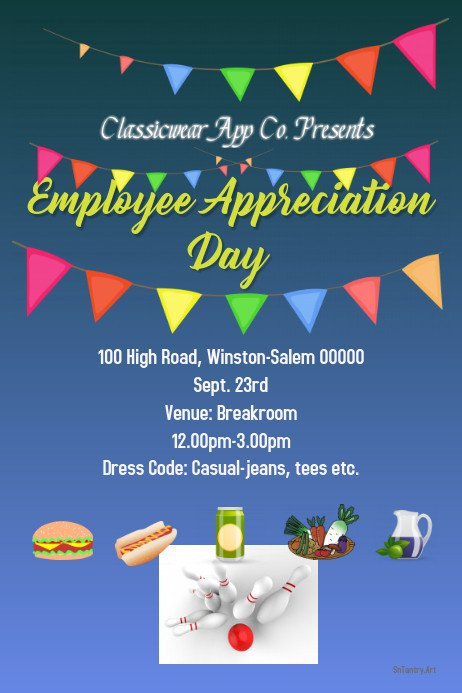 Employee Appreciation Day Flyer Template Employee Appreciation Day Arrange A Party today