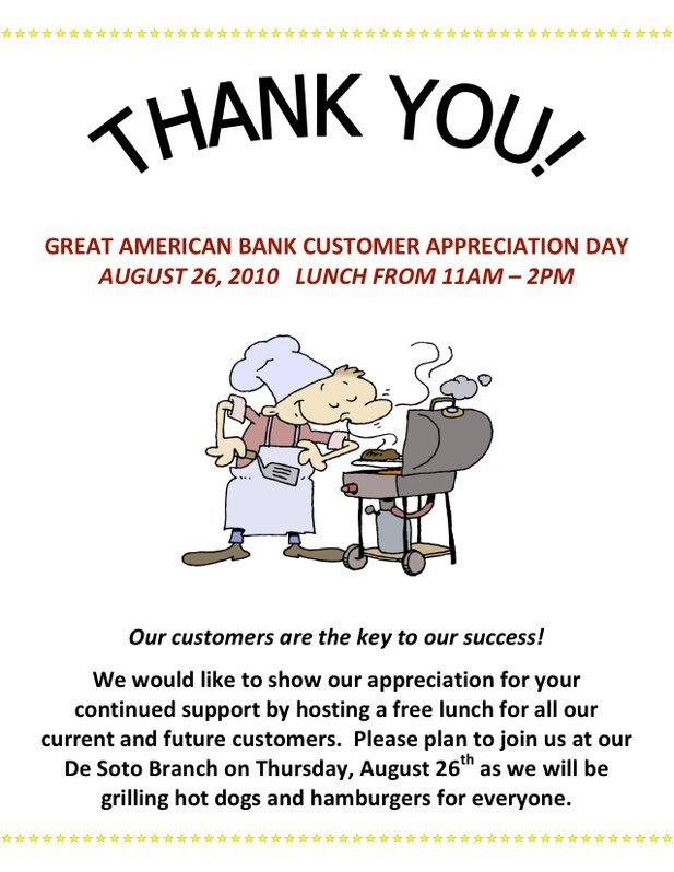 Employee Appreciation Day Flyer Template Employee Appreciation Flyer Ideas Great American Bank Will