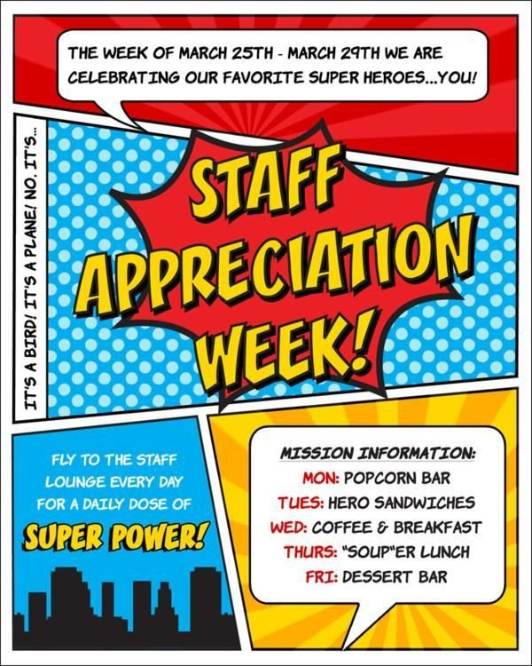 Employee Appreciation Day Flyer Template Superhero Flyer Template Google Search