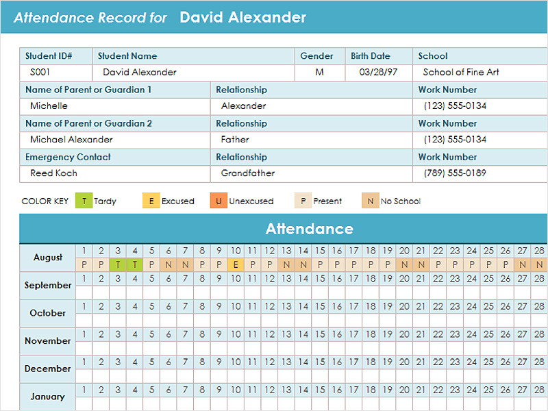 Employee attendance Tracker Excel Template 4 Employee Tracking Templates Excel Pdf formats