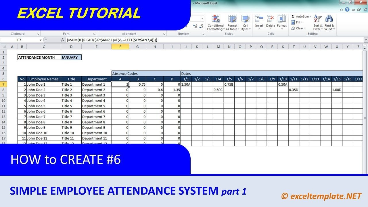 Employee attendance Tracker Excel Template How to Create A Simple Excel Employee attendance Tracker