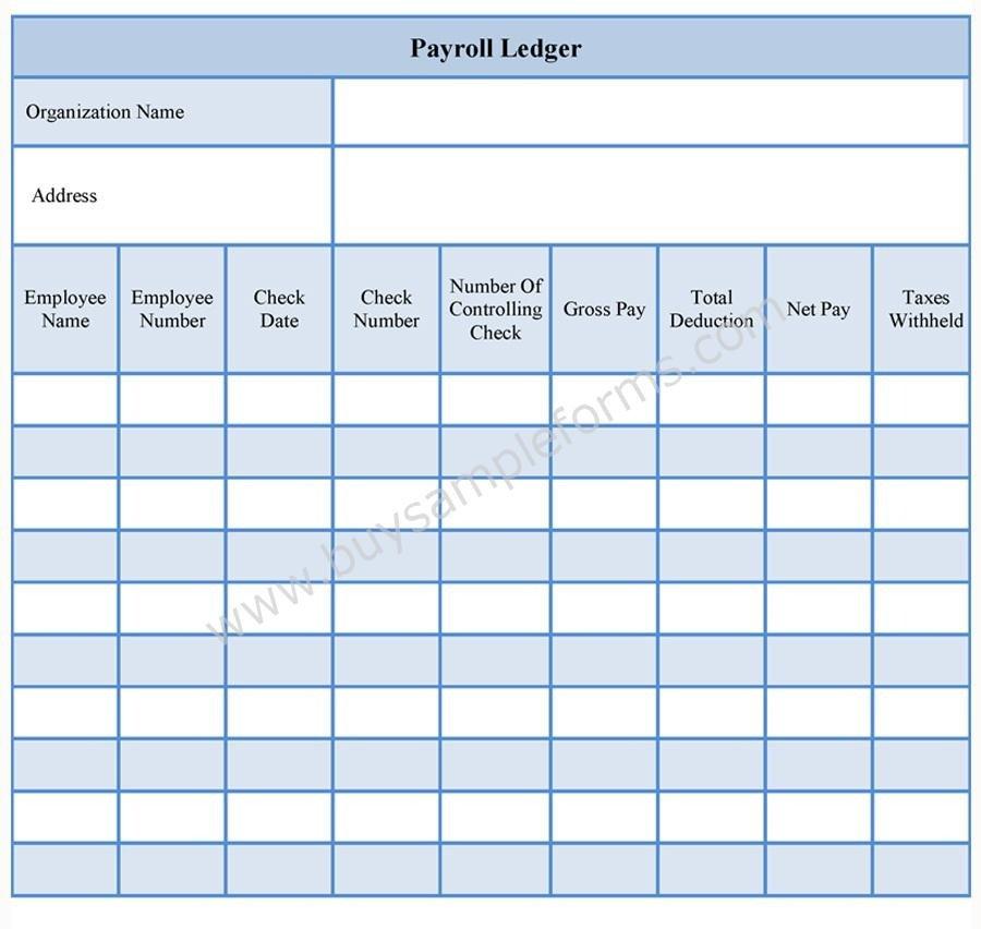 Payroll Ledger Form