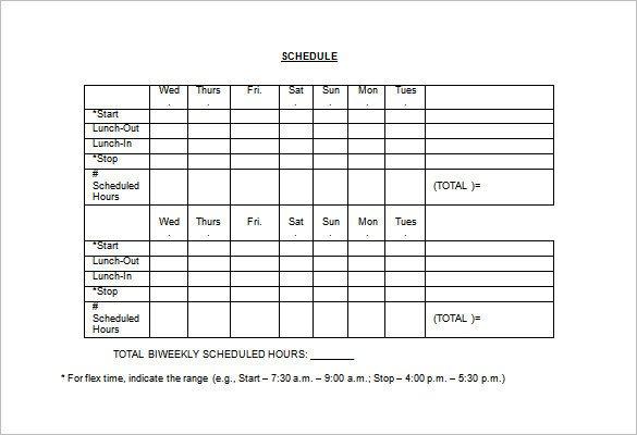 Employee Work Schedule Template Employee Work Schedule Template 17 Free Word Excel