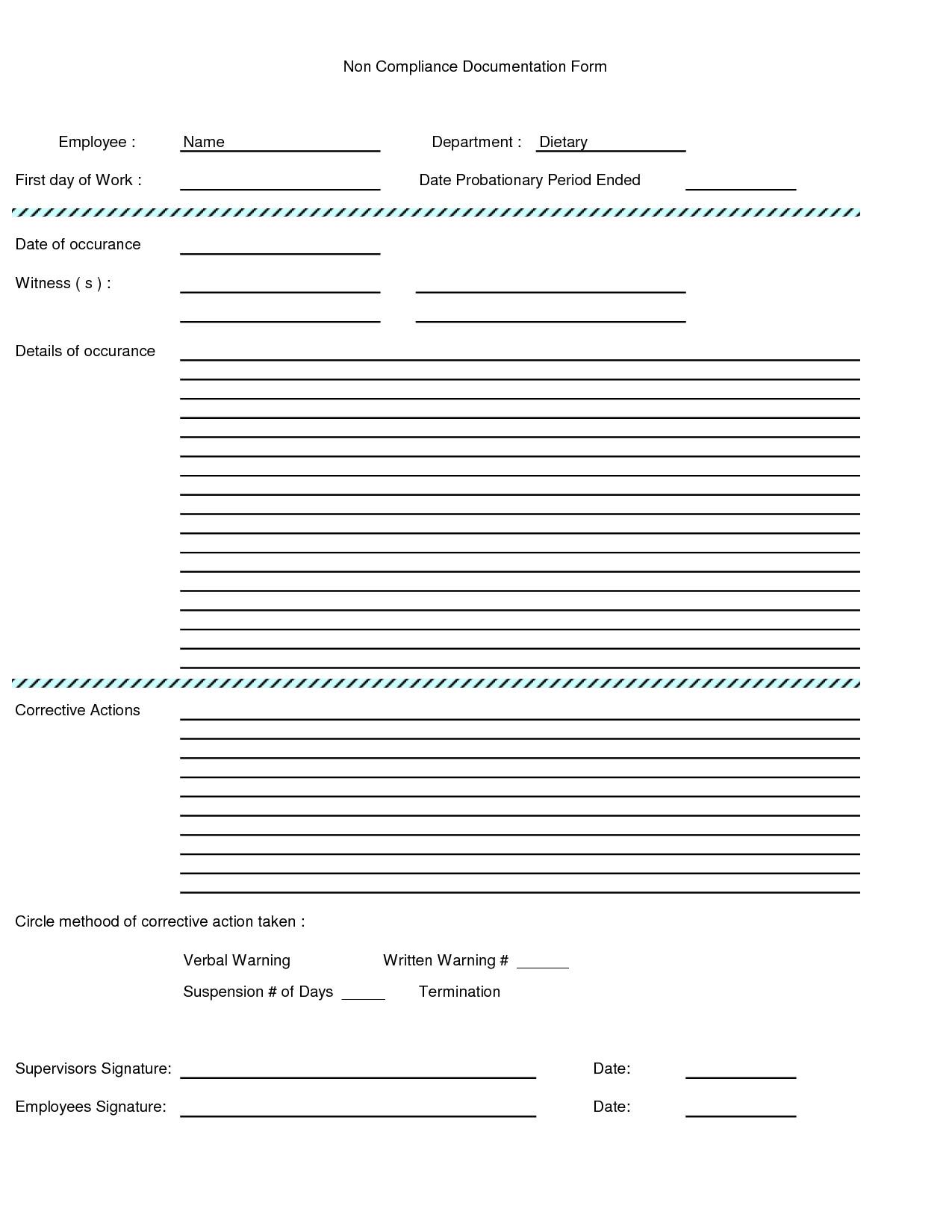 Employee Written Warning Template Written Warning form