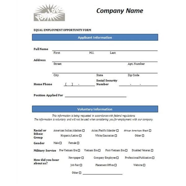 Employment Application Word Template Four Free Downloadable Job Application Templates