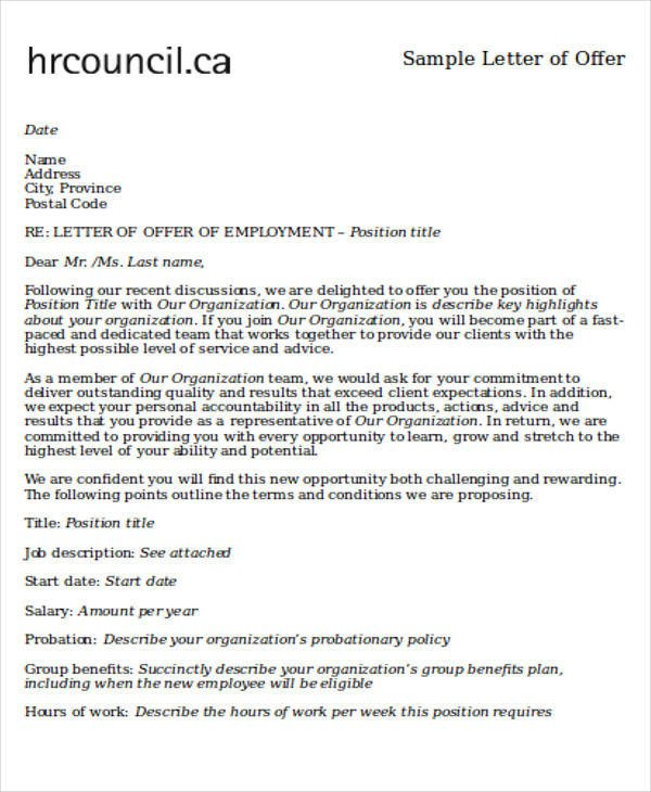 Employment Letter Of Intent 60 Sample Letter Of Intent