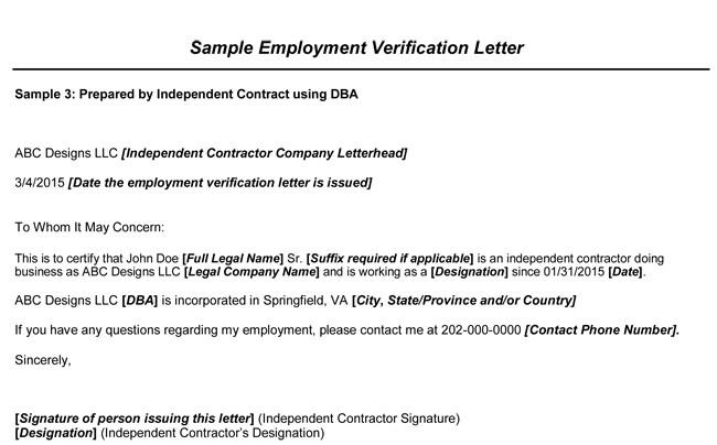 Employment Verification Letter Template Word Employment Verification Letter 8 Samples to Choose From