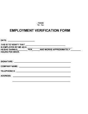 Employment Verification Request form Employment Verification form Fill Line Printable