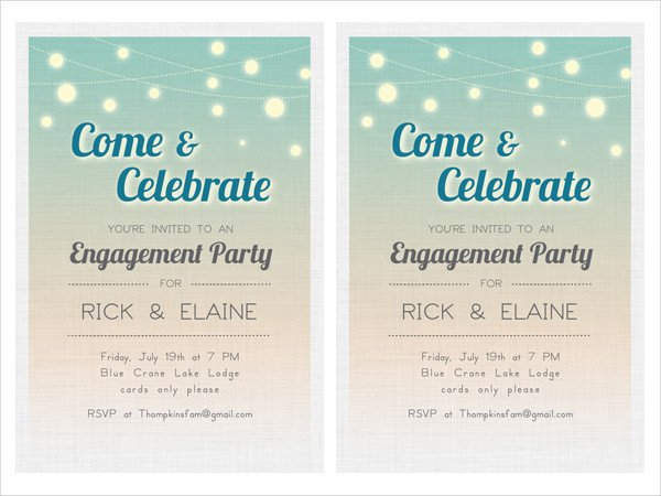 Engagement Party Invitation Templates 24 Free Engagement Invitation Templates Psd Ai Word
