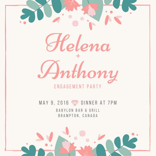 Engagement Party Invitation Templates Engagement Party Invitation Templates Canva