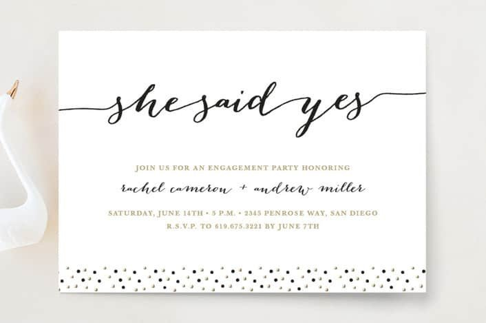 Engagement Party Invitation Templates How to Word Engagement Party Invitations with Examples