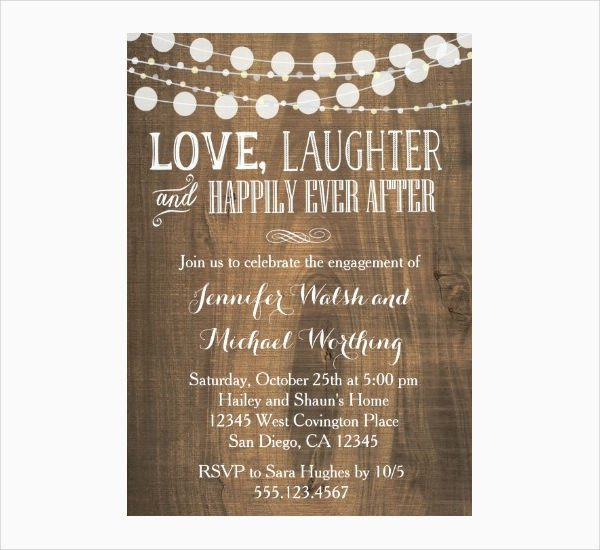 Engagement Party Invitations Templates 14 Engagement Party Invitations Psd Ai Vector Eps