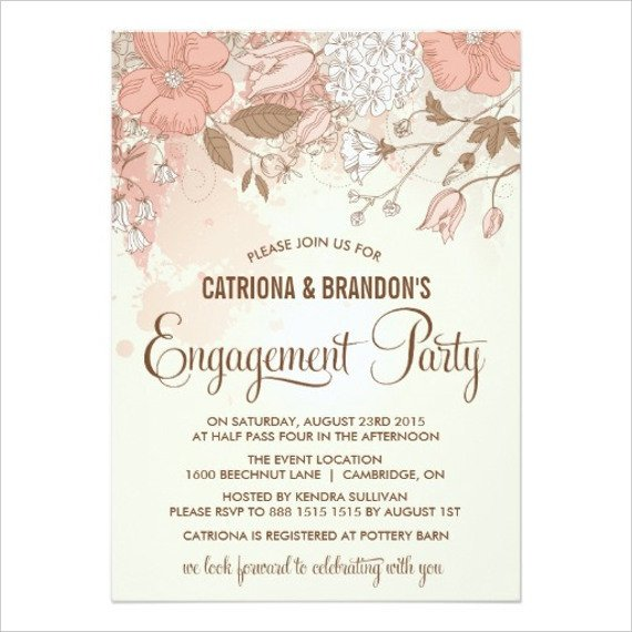 Engagement Party Invitations Templates 50 Printable Engagement Invitation Templates Psd Ai