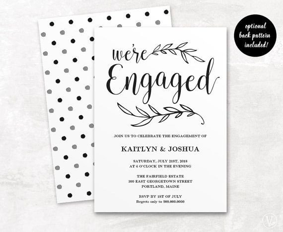 Engagement Party Invitations Templates Best 25 Engagement Invitation Template Ideas On Pinterest