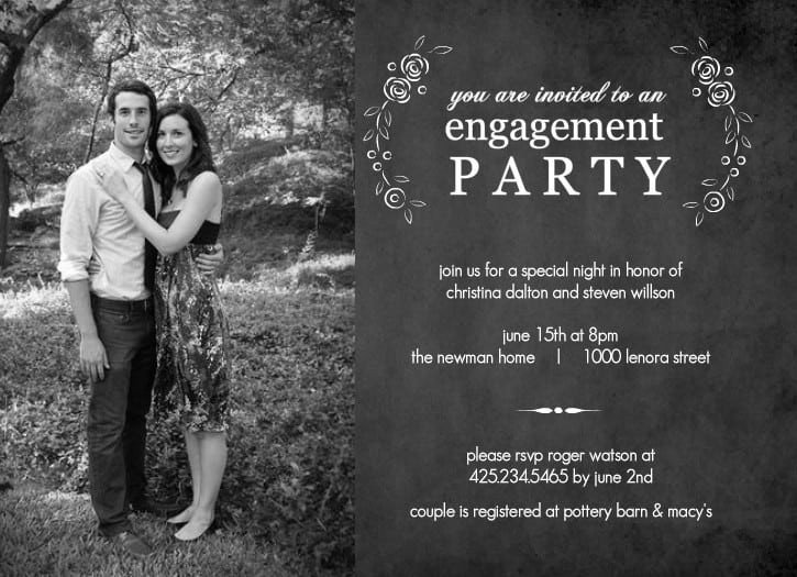 Engagement Party Invitations Templates Engagement Party Invitations Free Download
