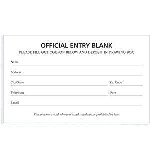 Entry form Template Word Blank Entry forms