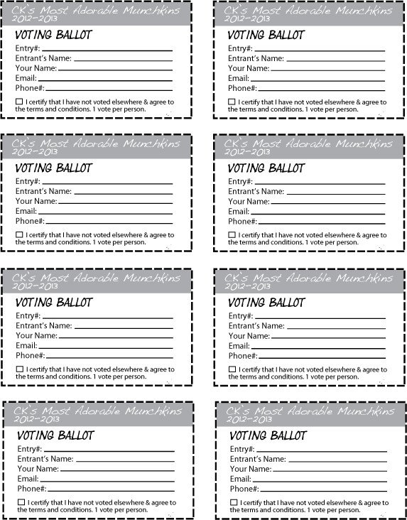 Entry form Template Word Ck S Most Adorable Munchkins Contest 2012 2013