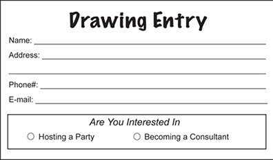 Entry form Template Word Drawing Entry Pads