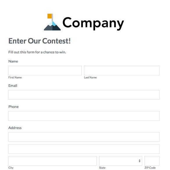 Entry form Template Word eventbrite Alternative Simple event Management