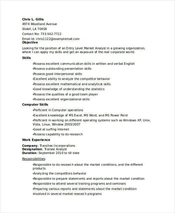 Entry Level Marketing Resume 20 Modern Marketing Resume Templates Pdf Doc