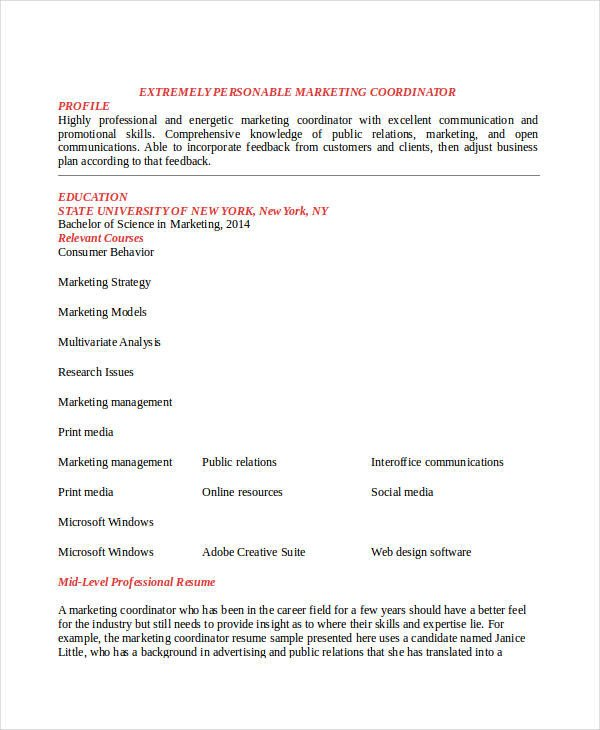 Entry Level Marketing Resume 23 Marketing Resume Templates