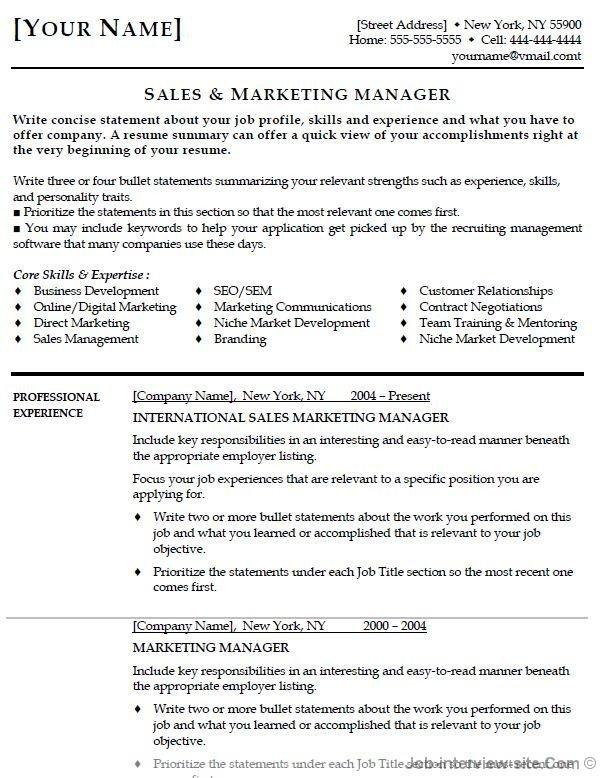 Entry Level Marketing Resume Entry Level Marketing Resume