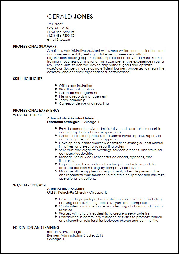 Entry Level Resume Templates Free Entry Level Resume Templates