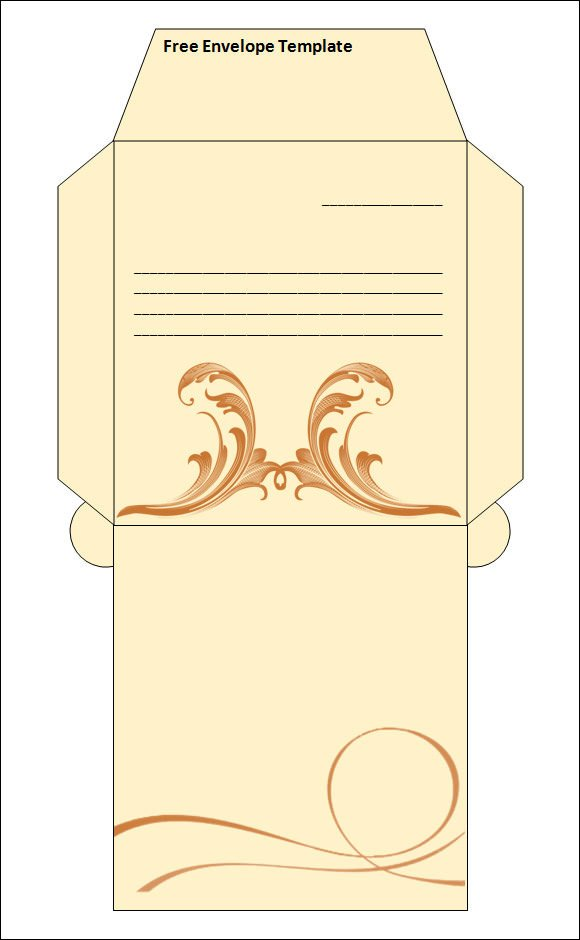Envelope Template for Word 15 Best Printable Envelope Templates