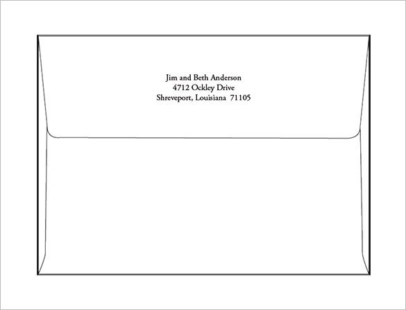 Envelope Template for Word 9 A7 Envelope Templates Doc Psd Pdf