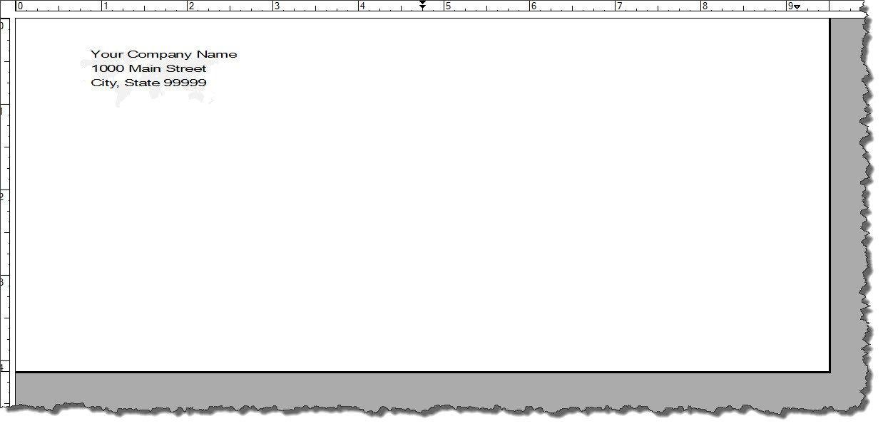 Envelope Template for Word Adobe Framemaker 9 Default Document Templates