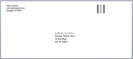 Envelope Template for Word How to Address Envelopes In Word 2008 for Mac Dummies