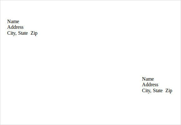 Envelope Template for Word Sample Small Envelope Template 7 Free Documents In Pdf