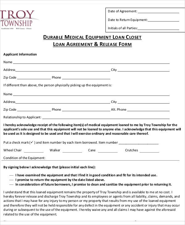 Equipment Loan Agreement Template 31 Loan Agreement Templates Word Pdf Pages