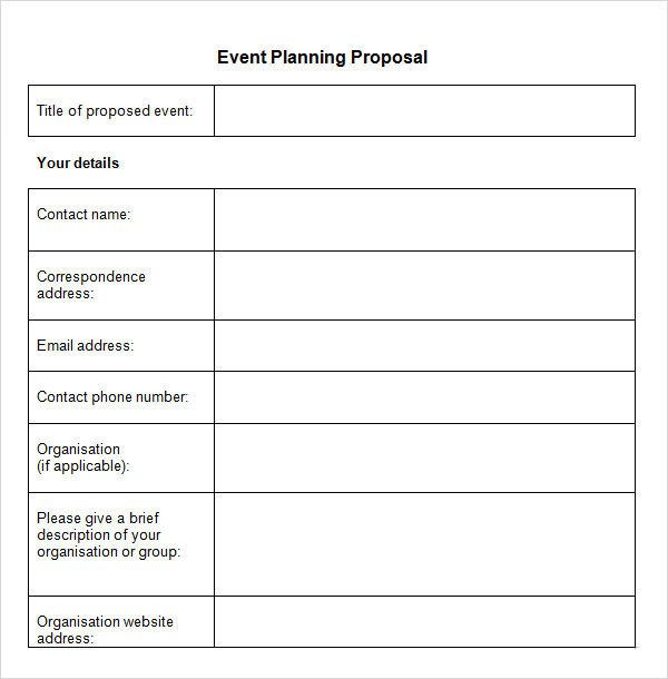 30 Sample Event Proposal Templates PSD PDF Word