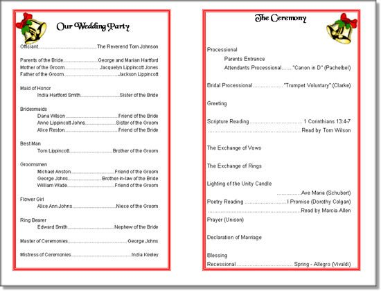Event Program Template Word PDF Free Download