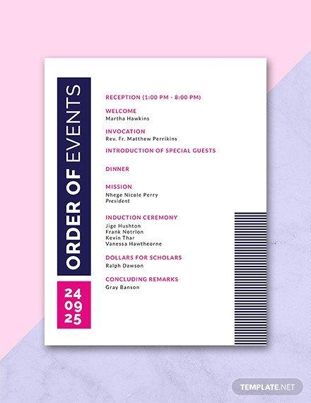 Event Program Template Word Free event Program Invitation Template Download 31