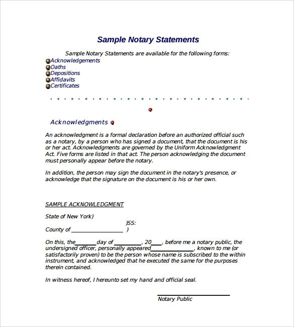 10 Sample Notarized Letters PDF Word