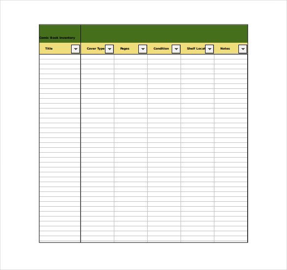 Excel Book Inventory Template Inventory Template – 25 Free Word Excel Pdf Documents