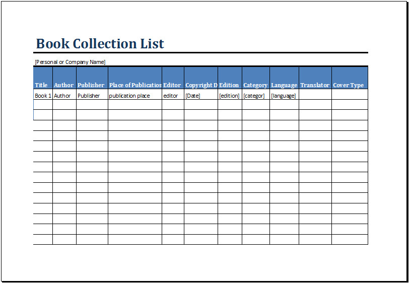 Excel Book Inventory Template Printable Book Inventory List Template Ms Excel