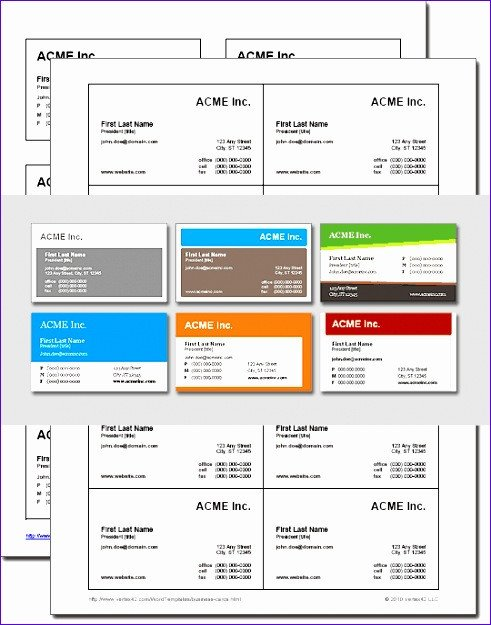 Excel Business Card Template 14 Microsoft Excel Business Card Template Exceltemplates