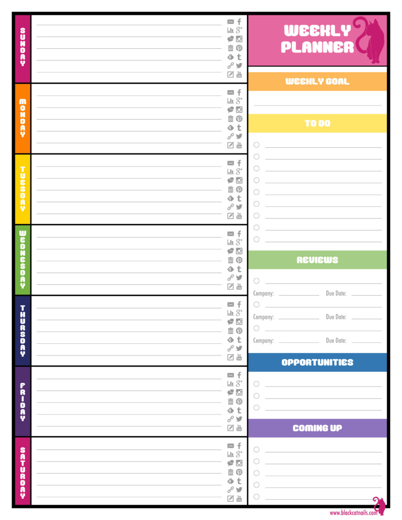 Excel Daily Planner Template Free Weekly Planner Templates Best Agenda Templates