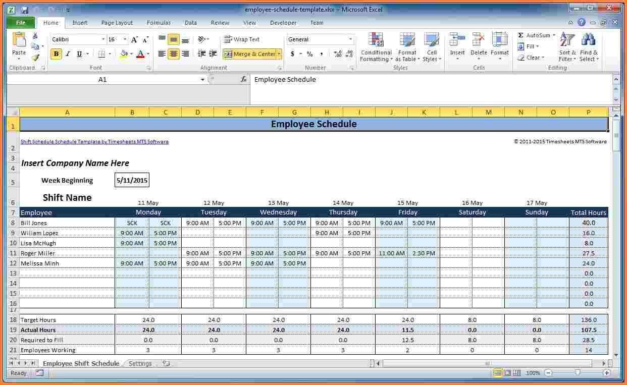 Excel Employee Schedule Template 7 Employee Scheduling Spreadsheet Excel