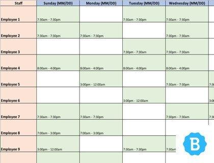 Excel Employee Schedule Template Employee Schedule Template [free Instant Downloads]